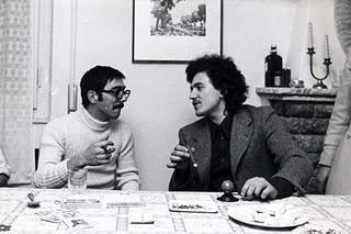 Massimo D'Alema in compagnia di Fabio Mussi, Capodanno 1968: i due erano già nella dirigenza del Pci di Pisa