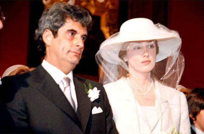 La Preastigiacomo il giorno del suo matrimonio con Angelo Bellucci (Ansa)