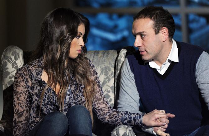 Ruby con il fidanzato Luca Risso (Ansa)