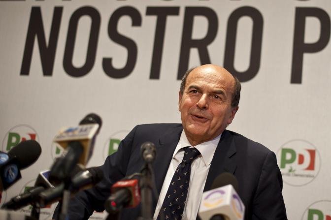 Il segretario del Pd Pierluigi Bersani (Ansa)