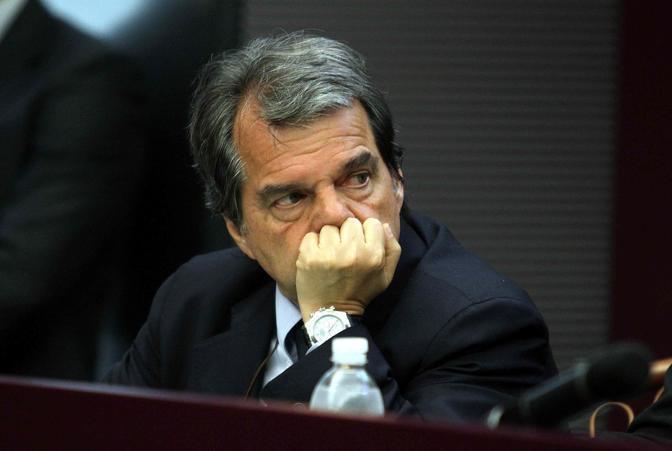 Renato Brunetta ascolta Tremonti  (Infophoto)