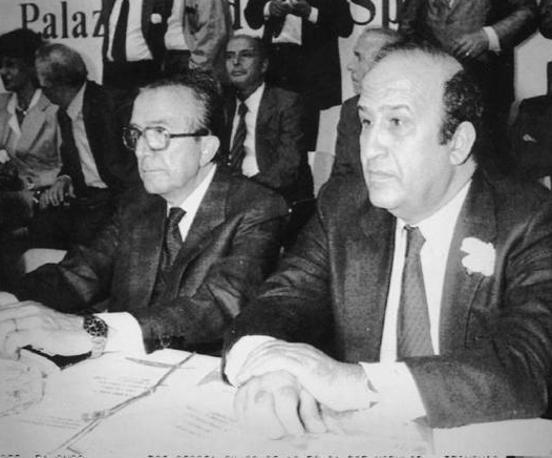 Con Vittorio Sbardella (Ansa)