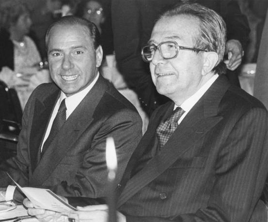 Andreotti e Silvio Berlusconi