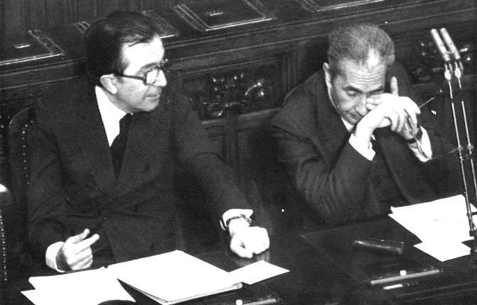 Con Aldo Moro alla Camera nel 1976
