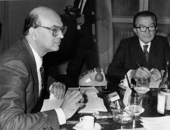 Andreotti e Bettino Craxi nel 1984 (Ap)