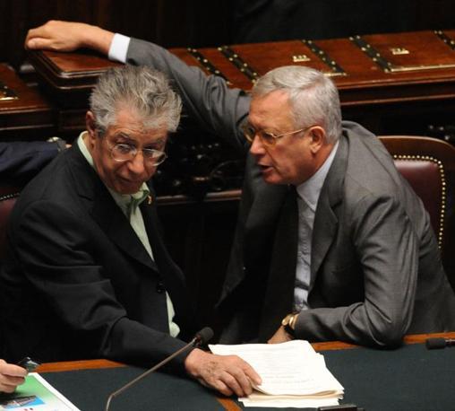 Il leader del Carroccio e Giulio Tremonti (Photoviews)