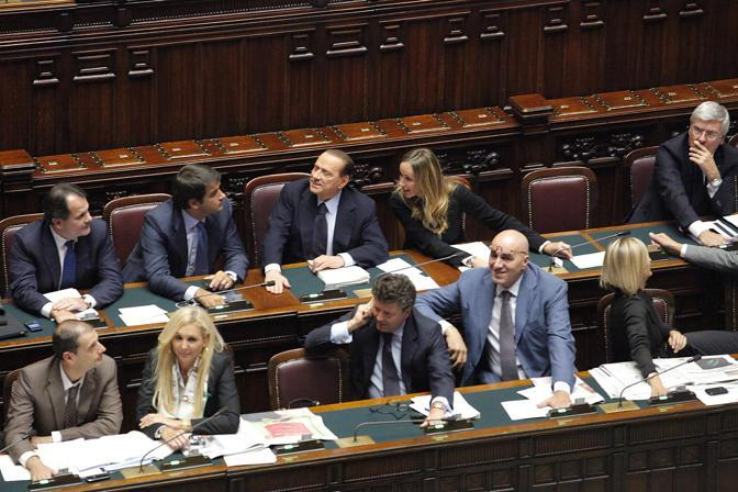 La smorfia del presidente del Consiglio al momento del risultato sfavorevole al governo (LaPresse/Scrobogna)