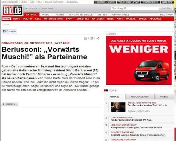 «Forza Gnocca»: la notizia sulla tedesca Bild