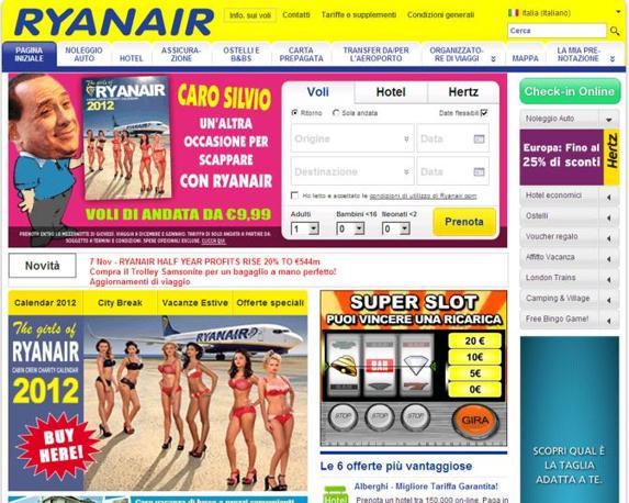 L'invito di Ryanair