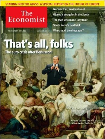 Novembre 2011 - L'ultima copertina dell'Economist dopo l'annuncio delle dimissioni di Berlusconi