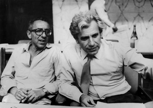 Con Luigi Pintor nel 1975 (Archivio Corriere)