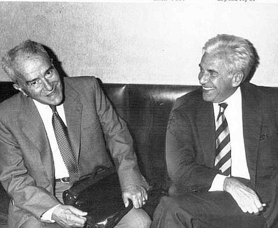 Magri e Pietro Ingrao 1990  (Ansa)