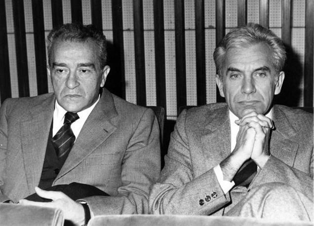 Pietro Ingrao e Magri (Olycom)