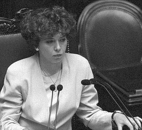 Irene Pivetti presidente della Camera nel 1995  (Ansa)