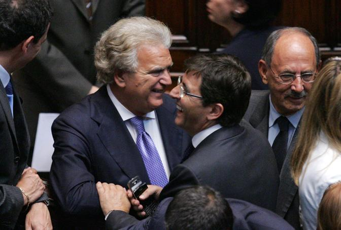 Denis Verdini e Nicola Cosentino (Olycom)