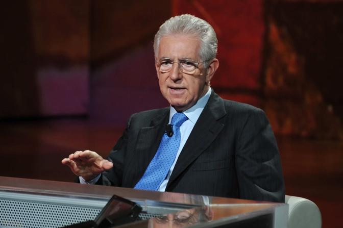 Mario Monti ha partecipato alla trasmission «Che tempo che fa» di Fabio Fazio (Gian Mattia D'Alberto/LaPresse)