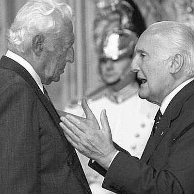 Il 4 luglio 1996 con il senatore Gianni Agnelli (Ap)