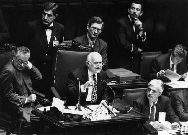 Il discorso alla Camera dopo la sua elezione a presidente della Repubblica (Agf
