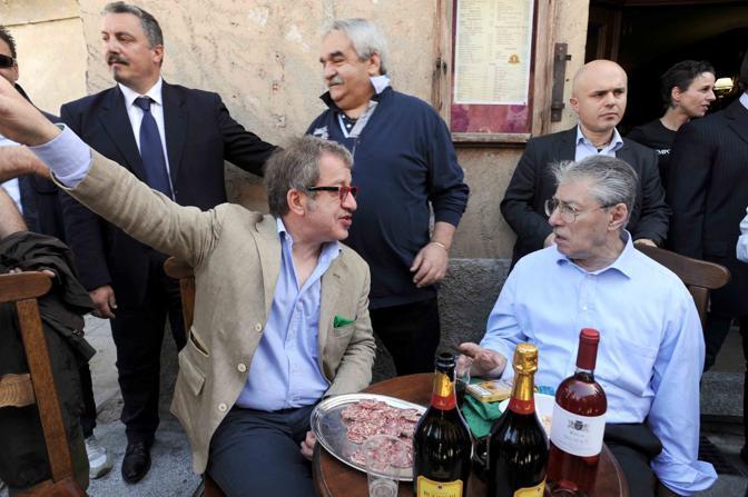 Umberto Bossi e Roberto Maroni inaugurano nuova sede Lega Nord a Castiglione Olona (Cavicchi)