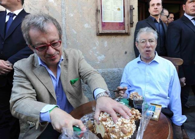 Umberto Bossi e Roberto Maroni a Castiglione Olona (Cavicchi)