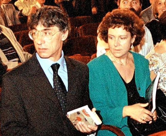 Umberto Bossi e l'inseparabile moglie Manuela Marrone