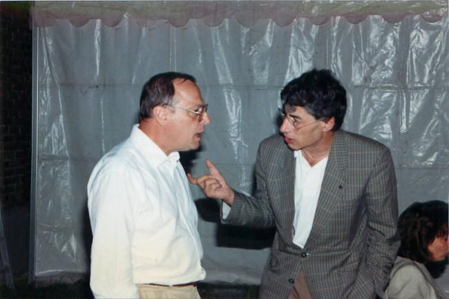 Umberto Bossi e Marco Formentini: il secondo sarà sindaco di Milano nel 1993, prima grande vittoria della Lega