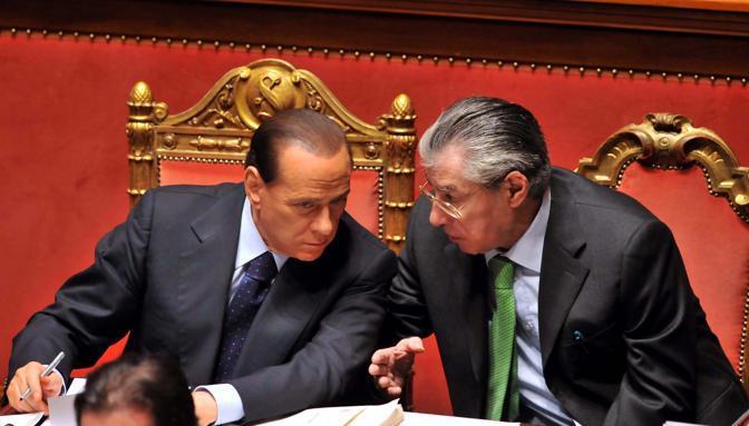 Con Berlusconi alla Camera : dopo il primo burrascoso rapporto, i due sono stati inseparabili per dieci anni, dal 2001 al 2011 (ImagoEc)