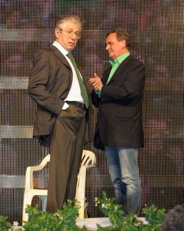 Bossi e Calderoli (Fotogramma)