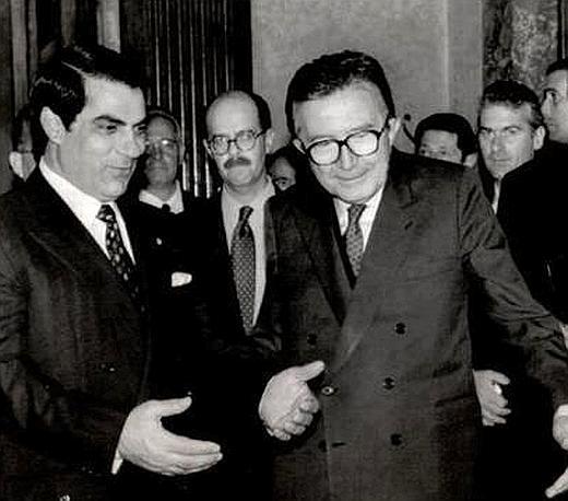 Il presidente tunisino Ben Ali nel 1991 (Ap)