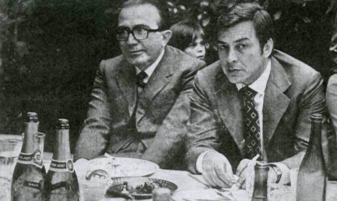 Con l'imprenditore Gaetano Caltagirone