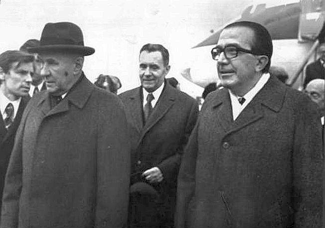 Con Kossighin a Mosca nel 1972 (Ap)