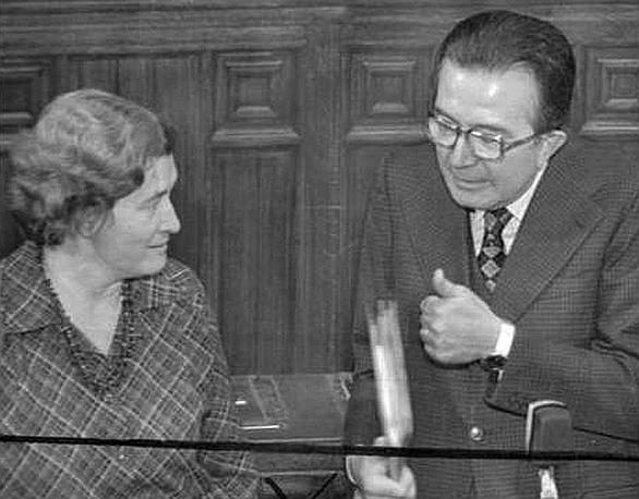Con Tina Anselmi nel 1968 (Ap)