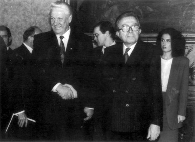 Con Boris Eltsin