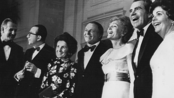 Andreotti e la moglie in visita di Stato a Washington con Frank e Agnew Sinatra,Richard e Pat Nixon
