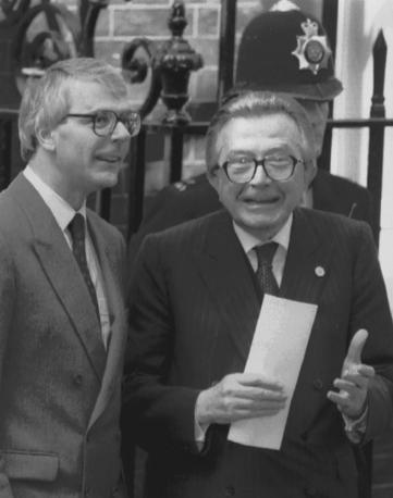 Nel 1991 con il primo ministro John Major