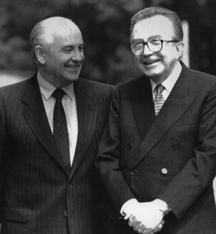 Con Gorbachiov nel 1991