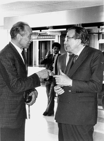Con Enzo Bearzot nel luglio del 1982