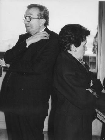Con la moglie Livia