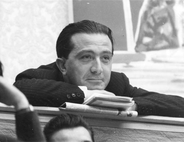 Durante un congresso nel 1955 (Coluzzi/Fotogramma)
