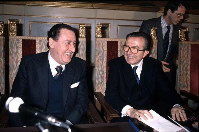 Con Alberto Sordi a Roma nel 1978 (Radogna/Fotogramma)