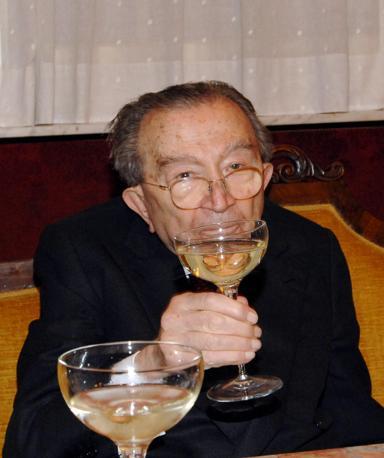 Sorseggiando una coppa di champagne a un ricevimento (Ansa/De Renzis)