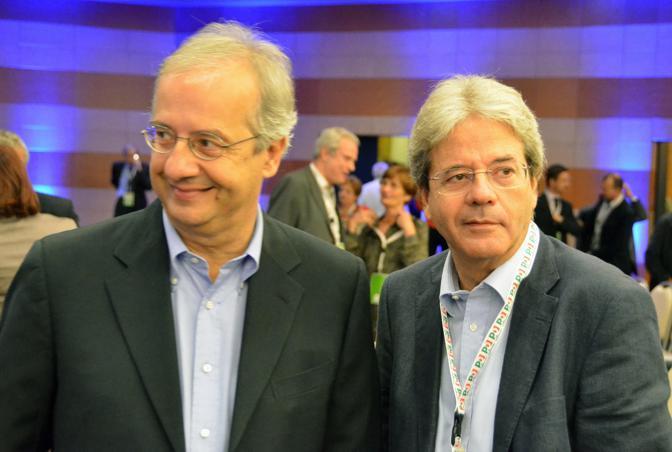 Walter Veltroni e Paolo Gentiloni (Stefano Cagelli)