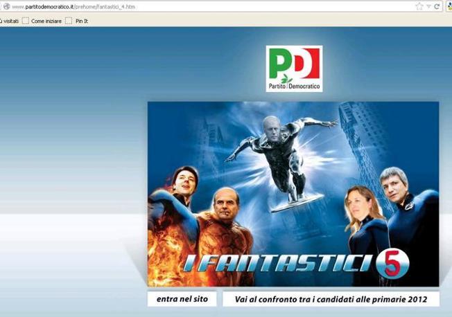 Da notare che la url (l'indirizzo del sito, in alto a sinistra), in realtà, riporta solo la dicitura «fantastici_4» (partitodemocratico.it)