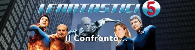 Anche all'interno i cinque candidati, da sinistra verso destra  Matteo Renzi, Pier Luigi Bersani, Bruno Tabacci, Laura Puppato e Nichi Vendola, accolgono in versione fumetto l'internauta (partitodemocratico.it)