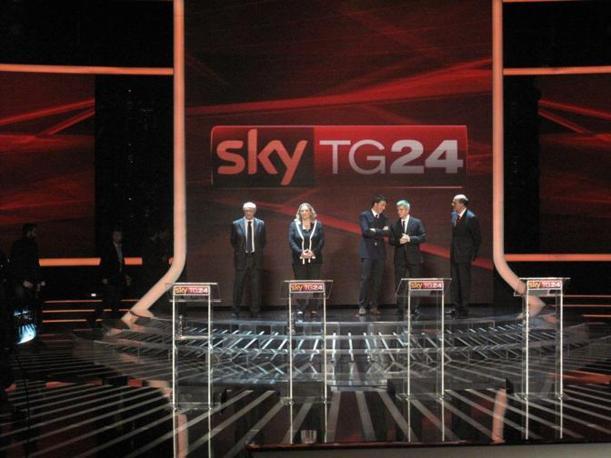 Da sinistra Tabacci, Puppato, Renzi, Vendola, Bersani