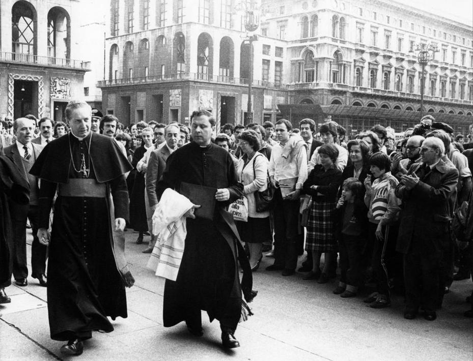 In piazza del Duomo nel 1989 (Fotogramma) 