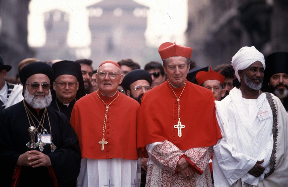 Nel 1994 durante l&#39;incontro internazionale delle religioni (Fotogramma) 