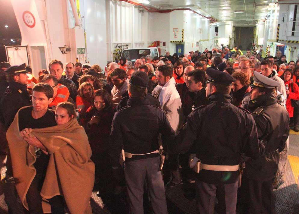 Sono pi� di 4.000 le persone evacuate dalla nave durante la notte (Sestini)