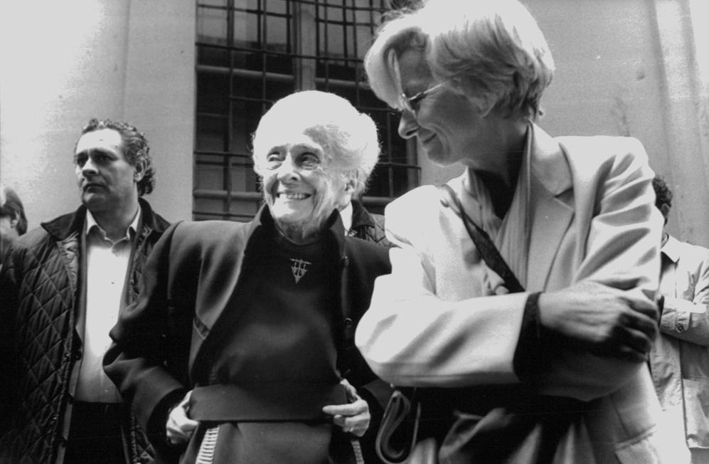 Con Emma Bonino il 18 aprile 1999