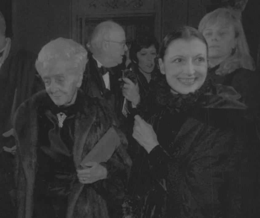 Con Carla Fracci alla prima della Scala il 7 dicembre 1994v